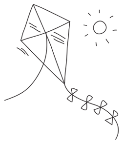 Illustration of a kite.